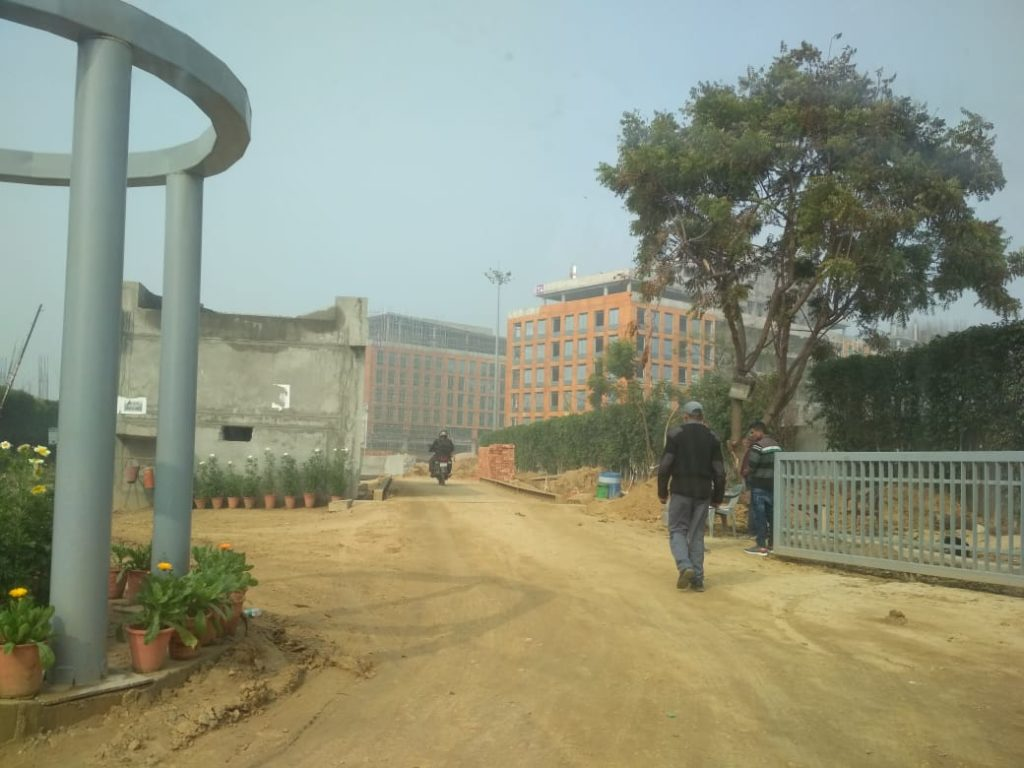 Under development Site of Vatika One on One Commercial Project