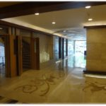 Building entrance lobby are